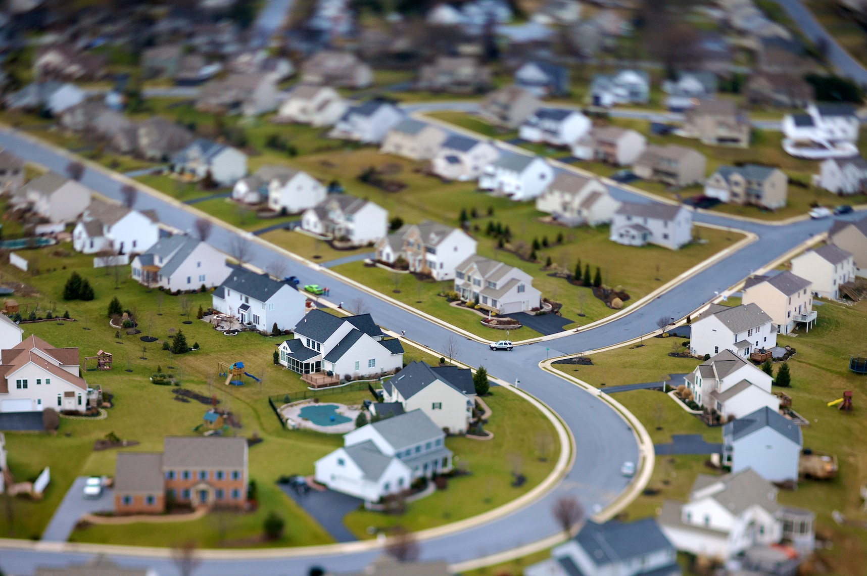 Lancaster County, PA (Laforet Lancaster County Suburbia Tilt-Shift Aerial 01)