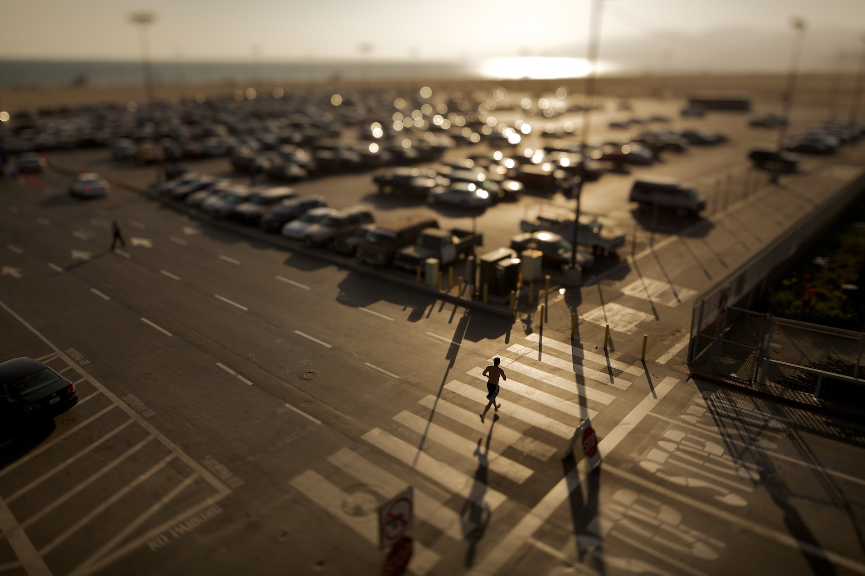Santa Monica, CA (Laforet Santa Monica Runner Tilt-Shift 02)
