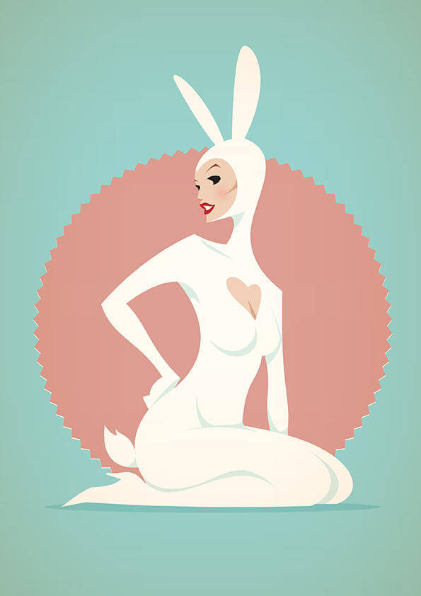 stanley chow illustration chinky afro bunny
