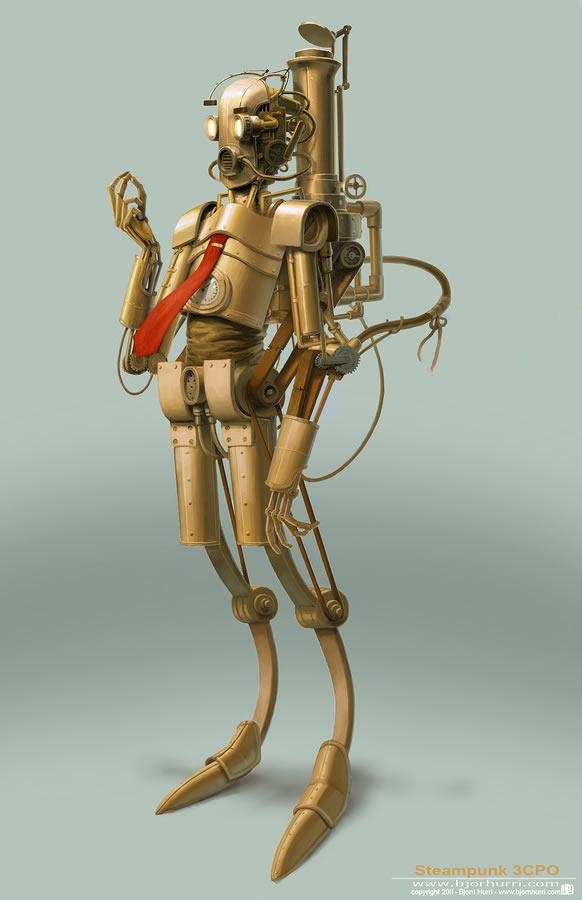 steampunk_star_wars-illustration-c3po-oldskull