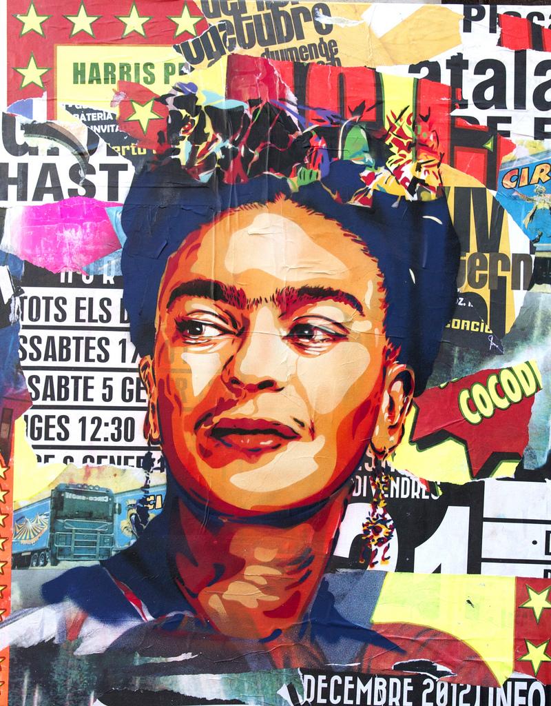 Frida kahlo collage btoy