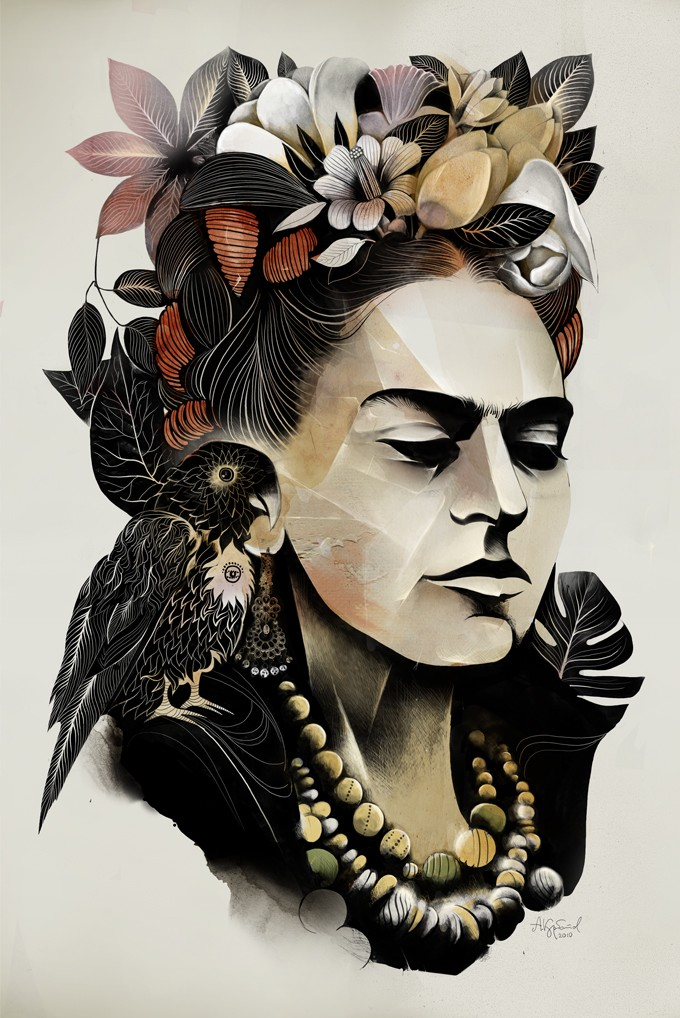 alexey-kurbatov illustration frida kahlo