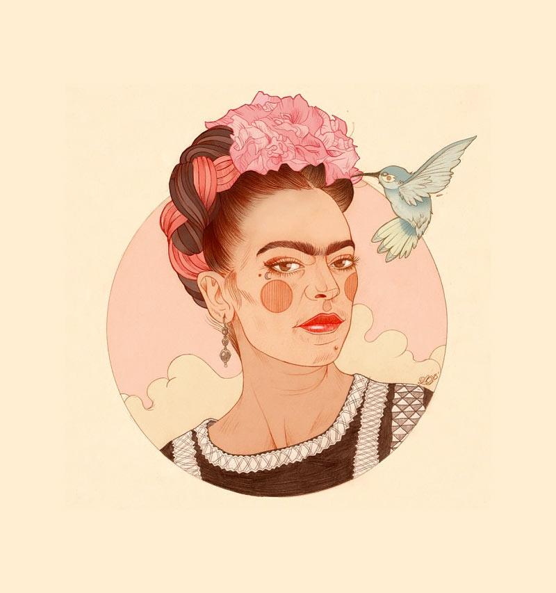 frida-kahlo-liz-clements-ilustracion