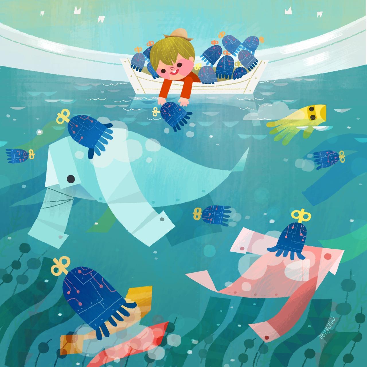 joey cho illustration sailo kid