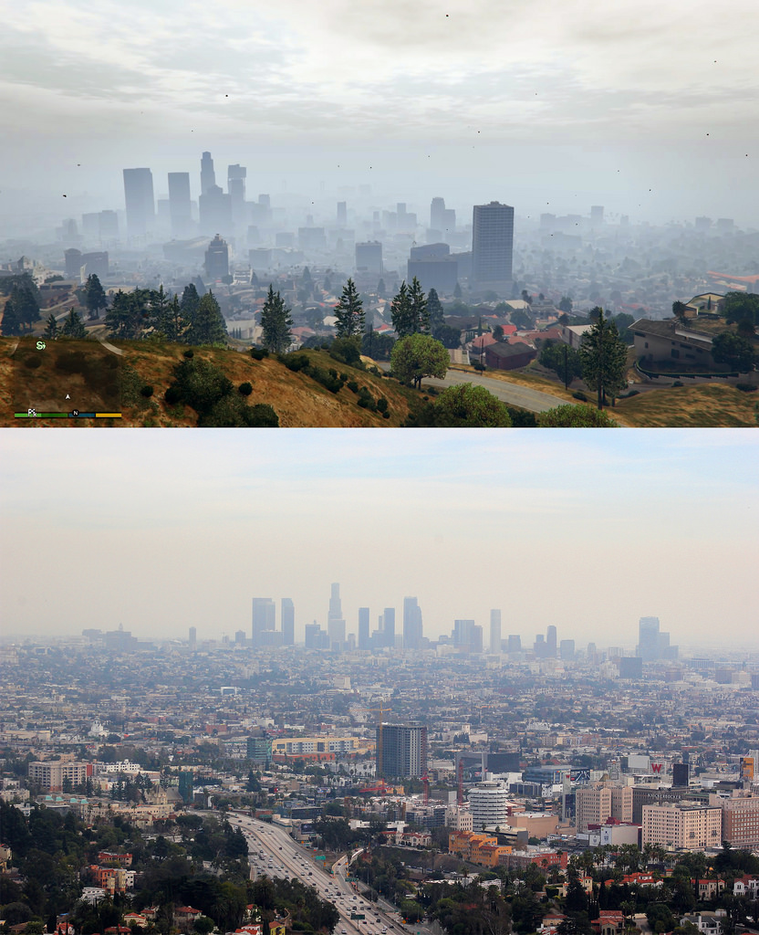 GTA V VS LOS ANGELES 1