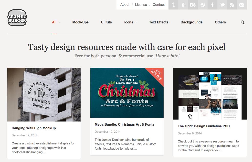 graphic burger resources