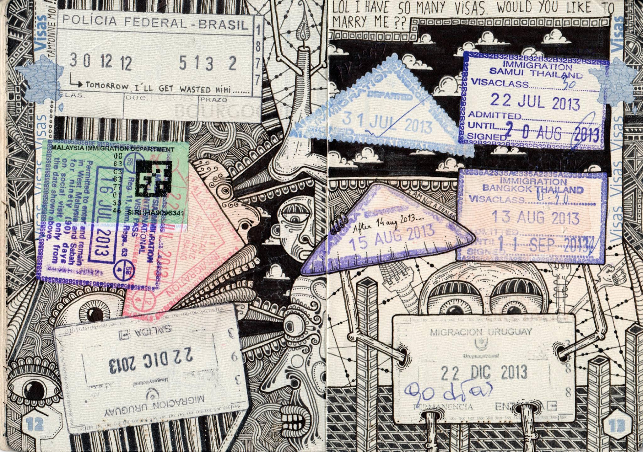 passport illustration 4