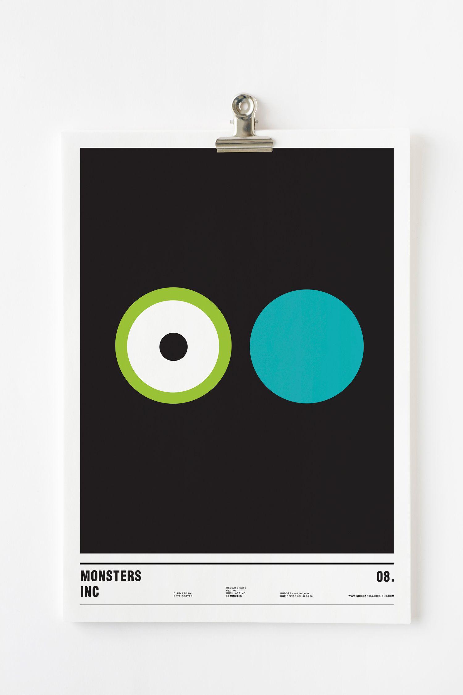 monster inc minimalism