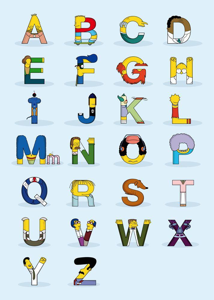 tipografia los simpsons
