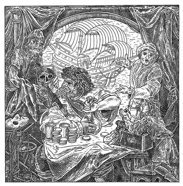 Istvan Orosz illusion illustration skull 12