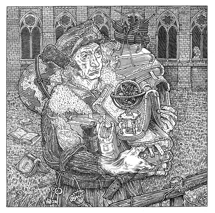 Istvan Orosz illusion illustration skull 8