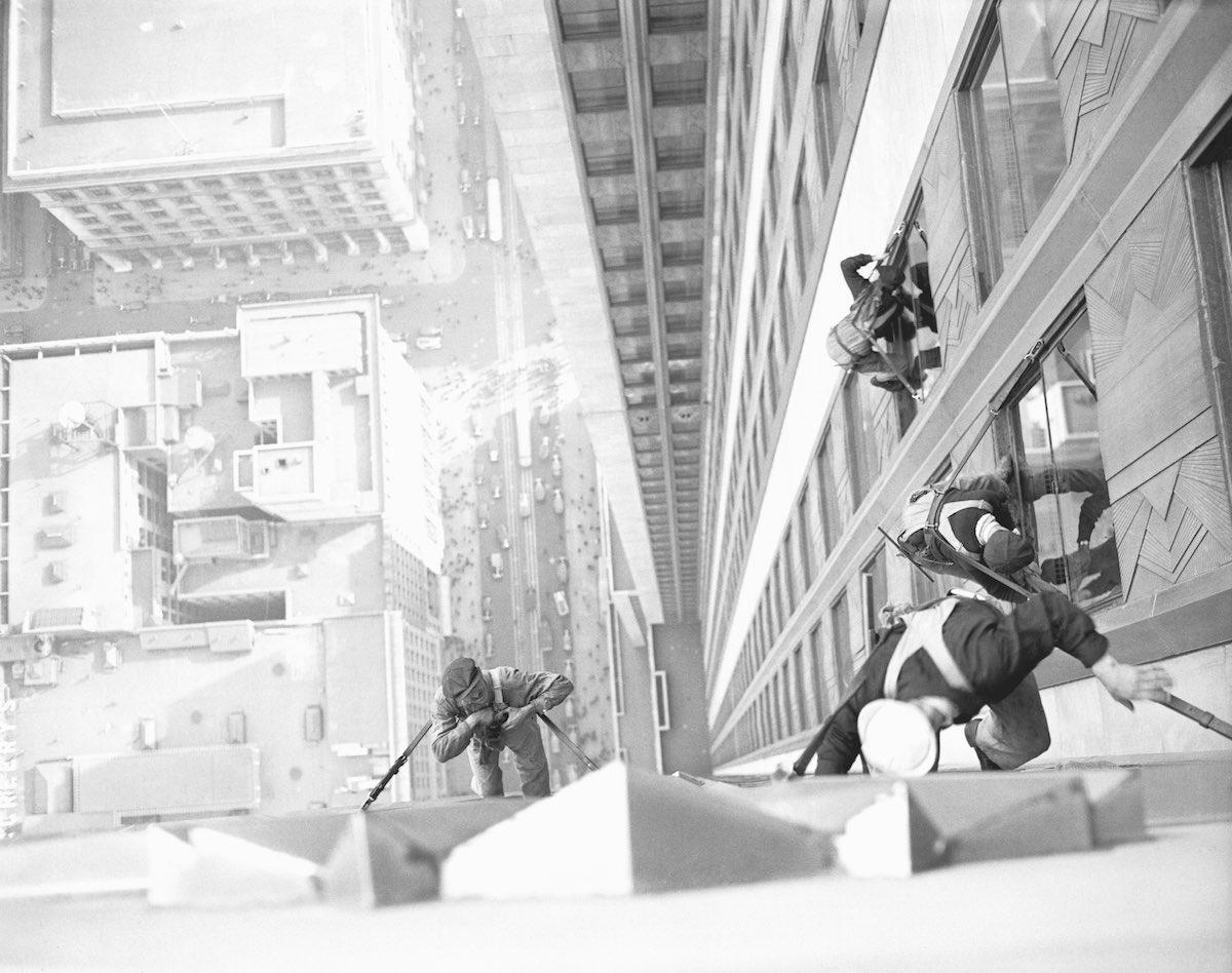 Men Washing Windows of Empire State Building