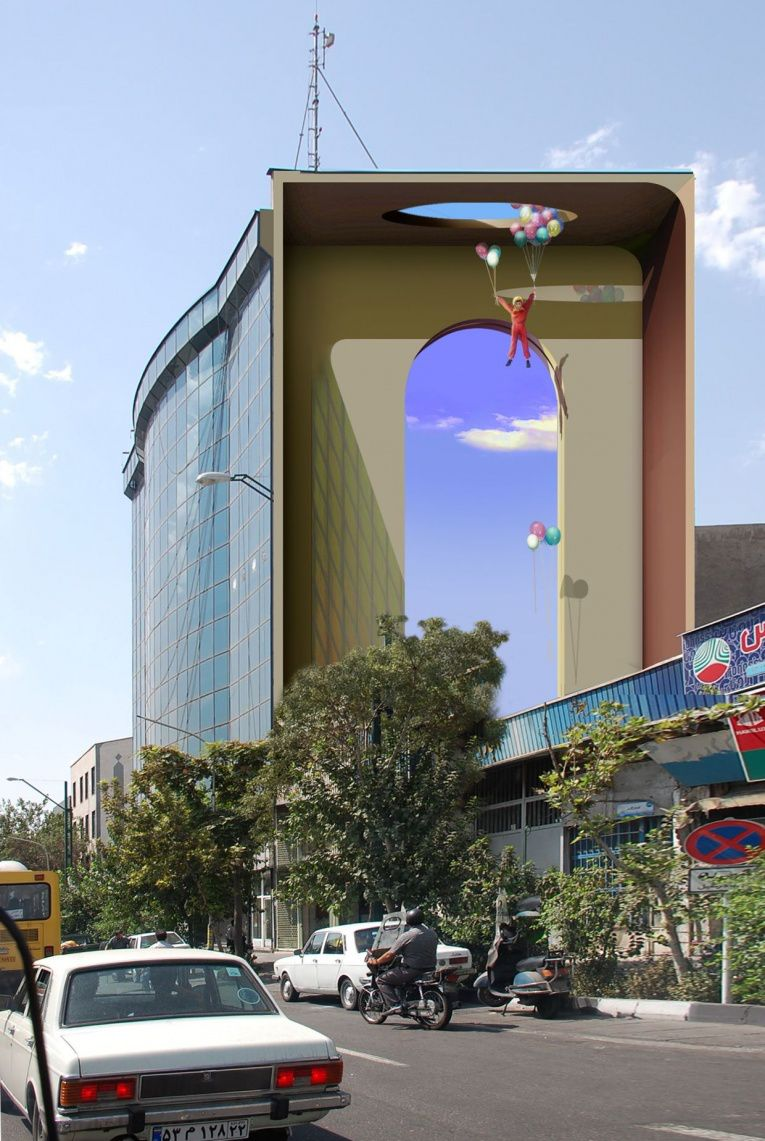 mehdi ghadyanloo street art optical illusion 11