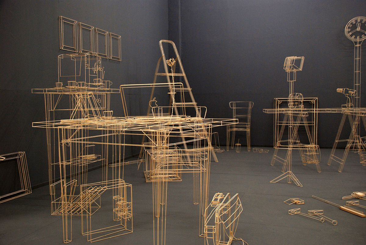 wireframe scupltures objects 10