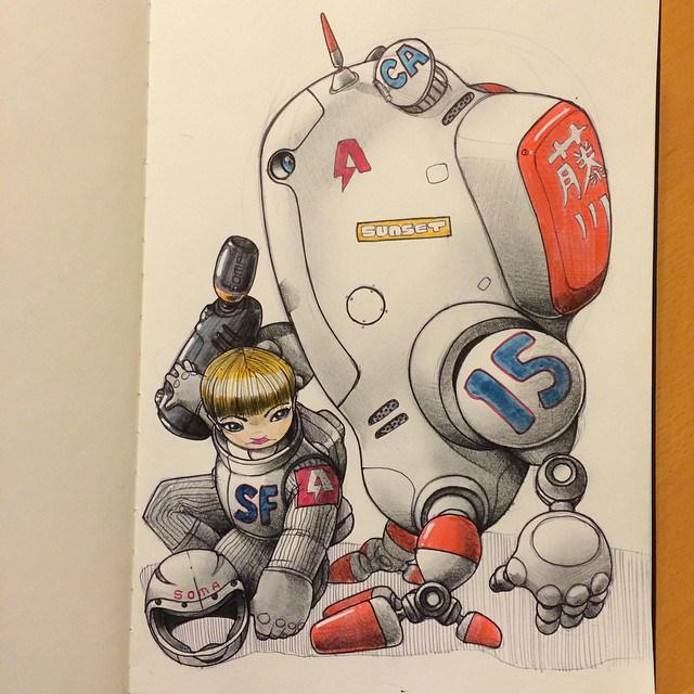 Norio Fujikawa illustration 10