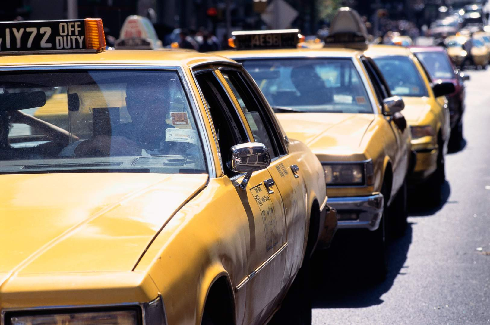 Line of Yellow Cabs