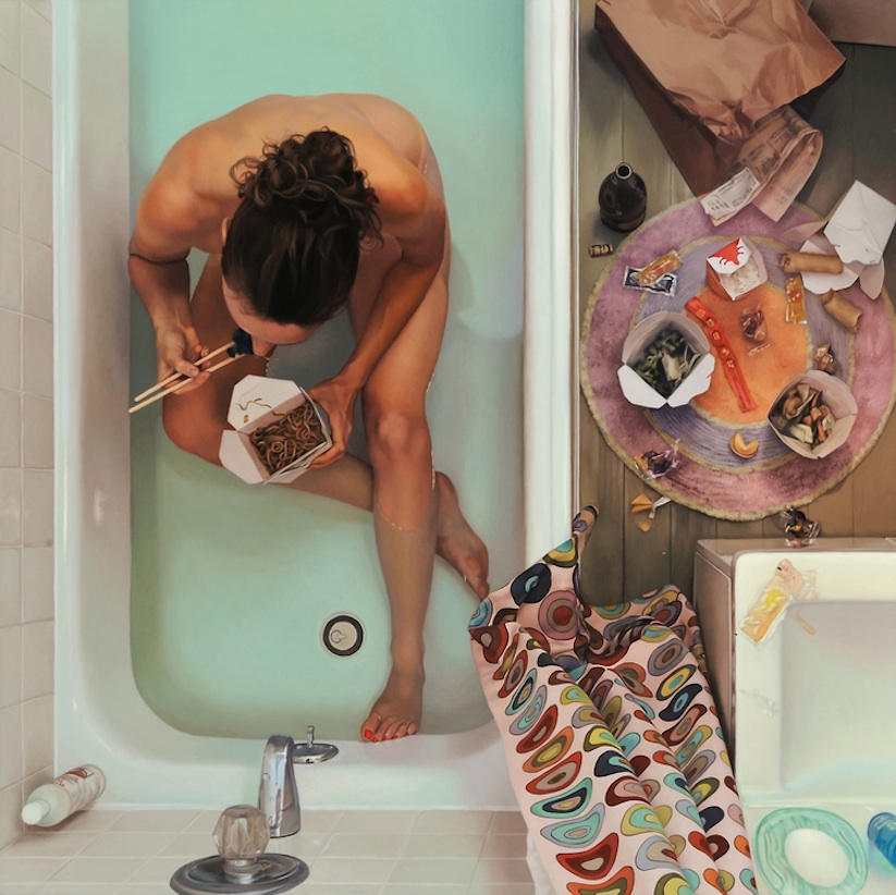 food women and hyperrealistic painting 1
