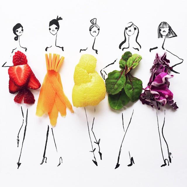 27Gretchen Roehrs fashion food illustration 5