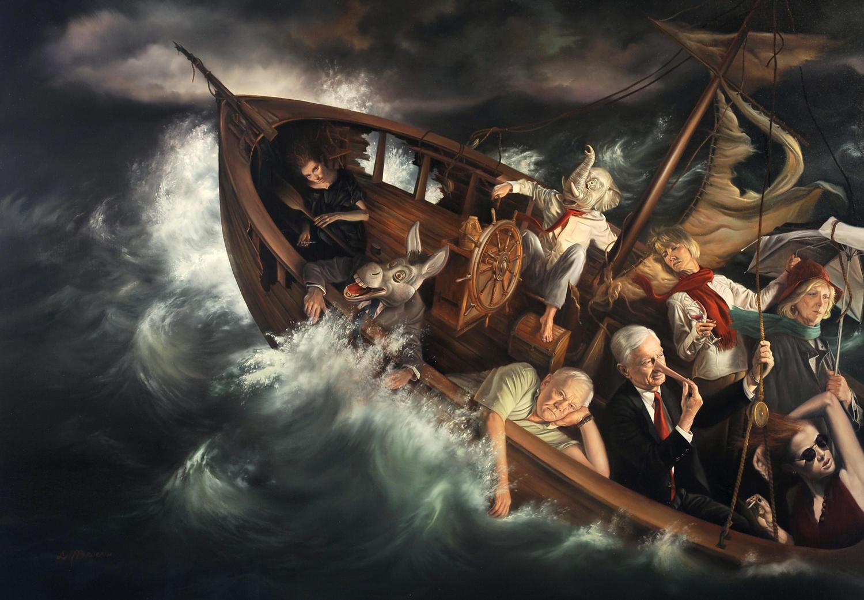 David Bowers painting oldskull 2