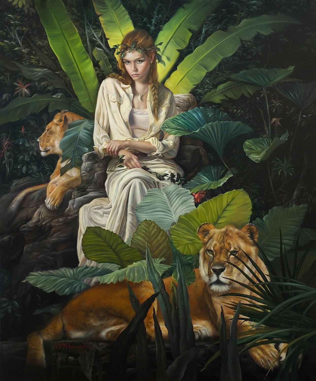 David Bowers painting oldskull 4