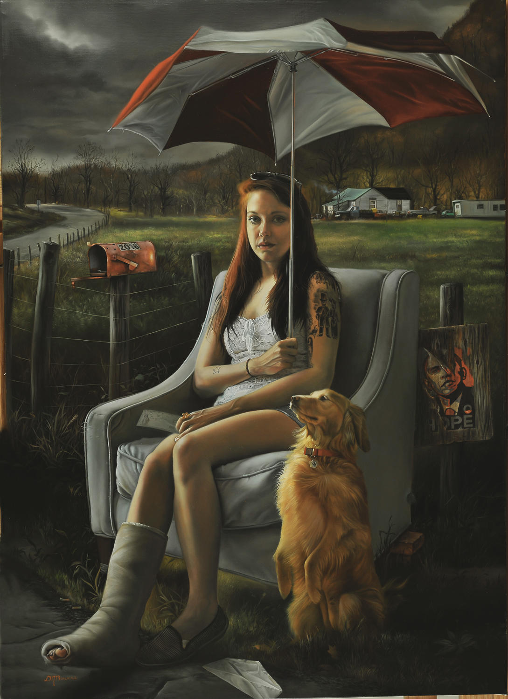 David Bowers painting oldskull 7