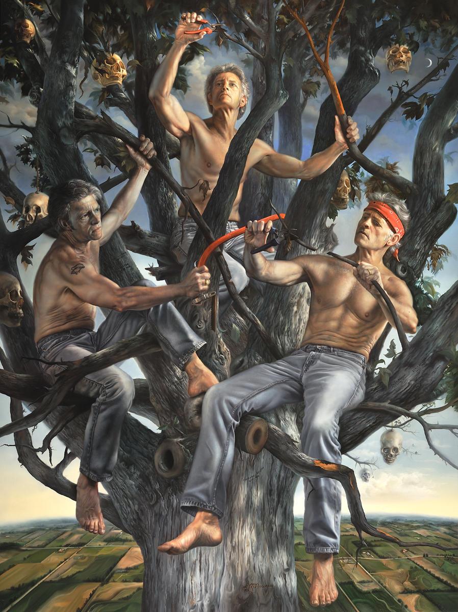 David Bowers painting oldskull 8