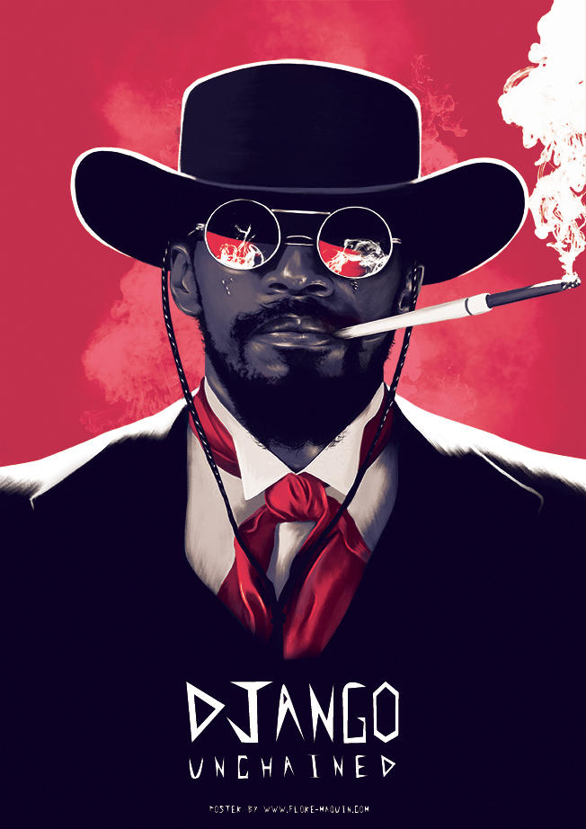 Flore Maquin  movie posters illustration django