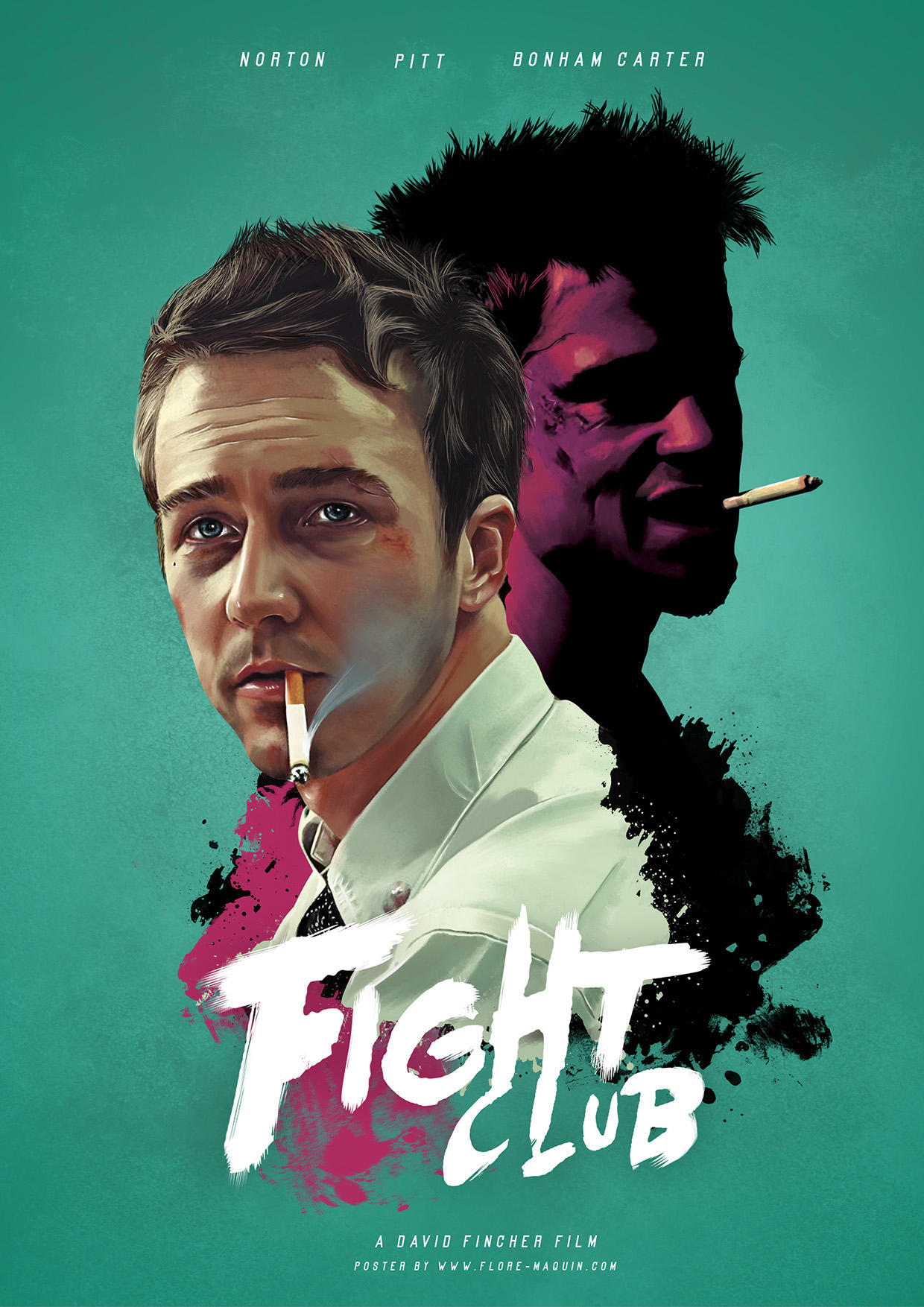 Flore Maquin  movie posters illustration fight club