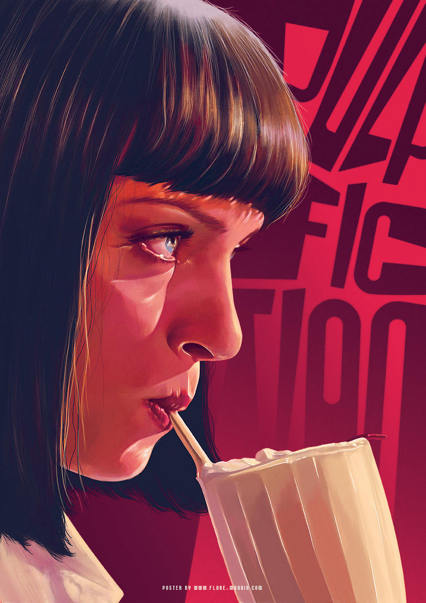 Flore Maquin  movie posters illustration pulp fiction