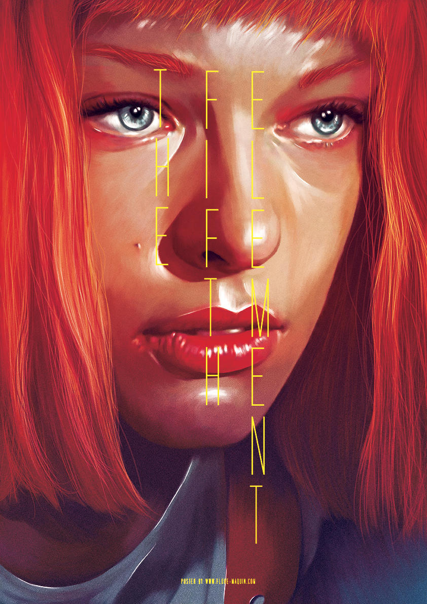 Flore Maquin  movie posters illustration the fifth element