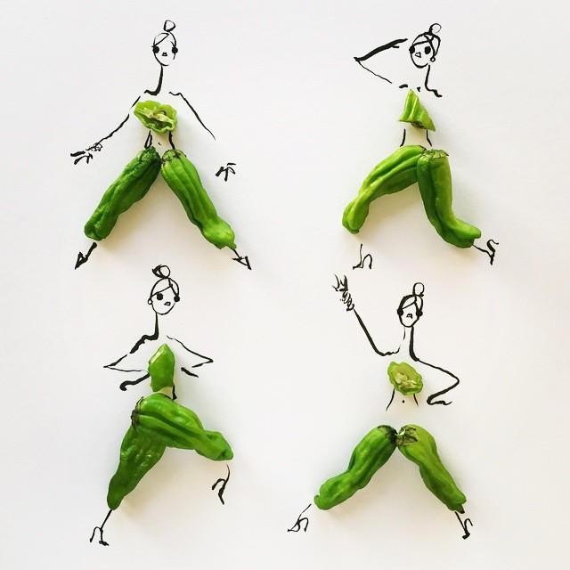 Gretchen Roehrs fashion food illustration 3