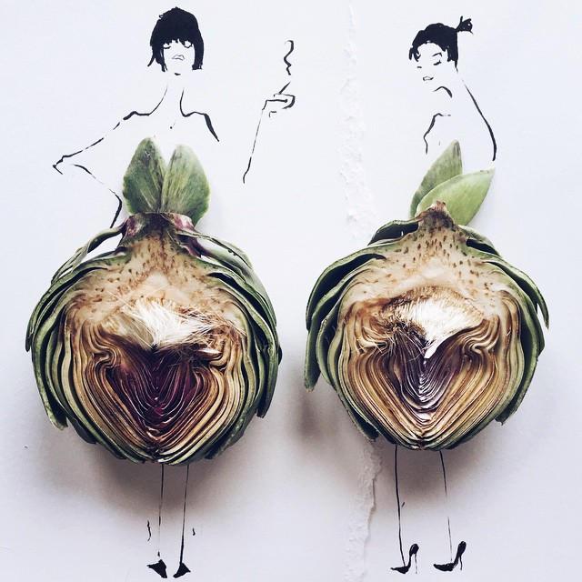 Gretchen Roehrs fashion food illustration 4