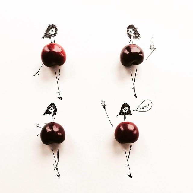 Gretchen Roehrs fashion food illustration 5