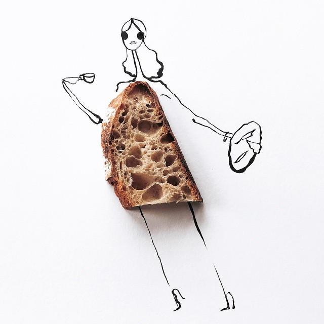 Gretchen Roehrs fashion food illustration 7