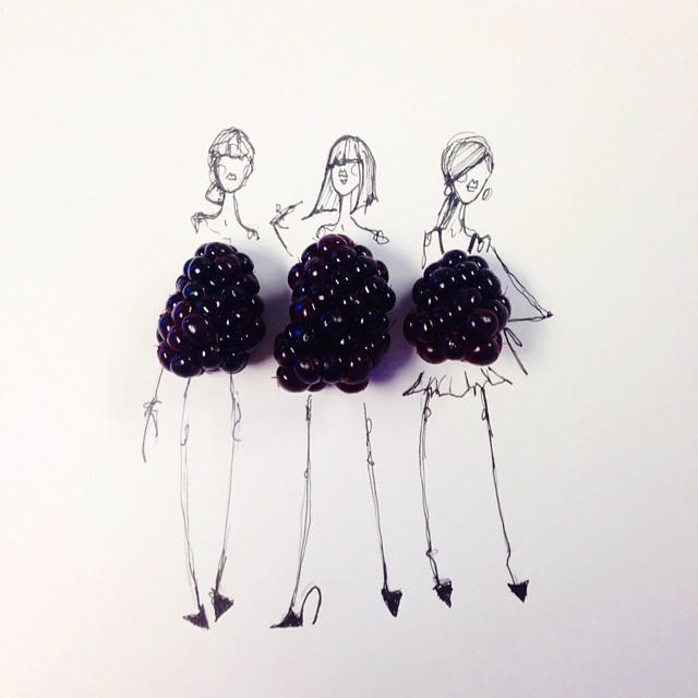 Gretchen Roehrs fashion food illustration 9