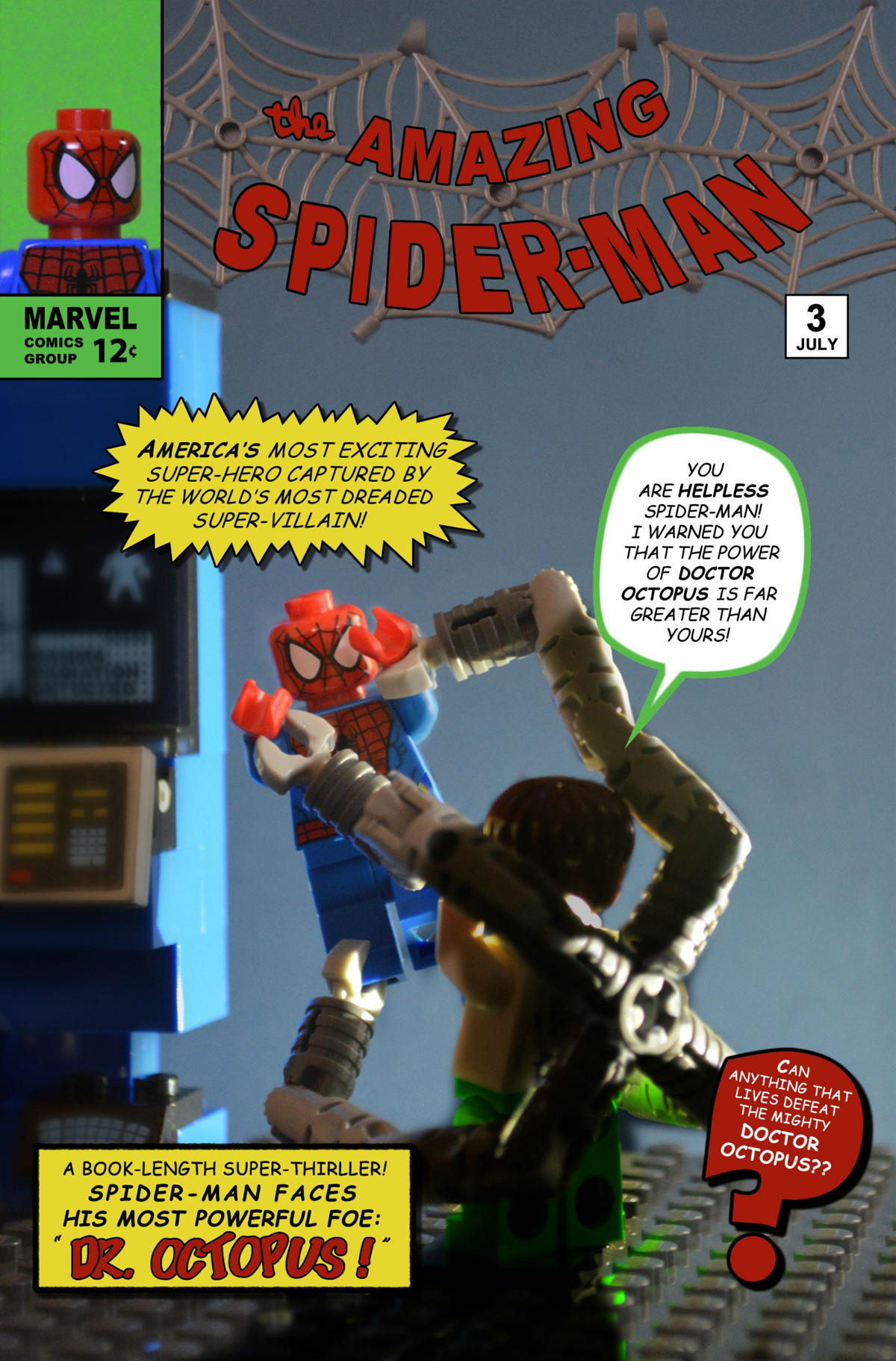 amazing spiderman 3 comic lego oldskull