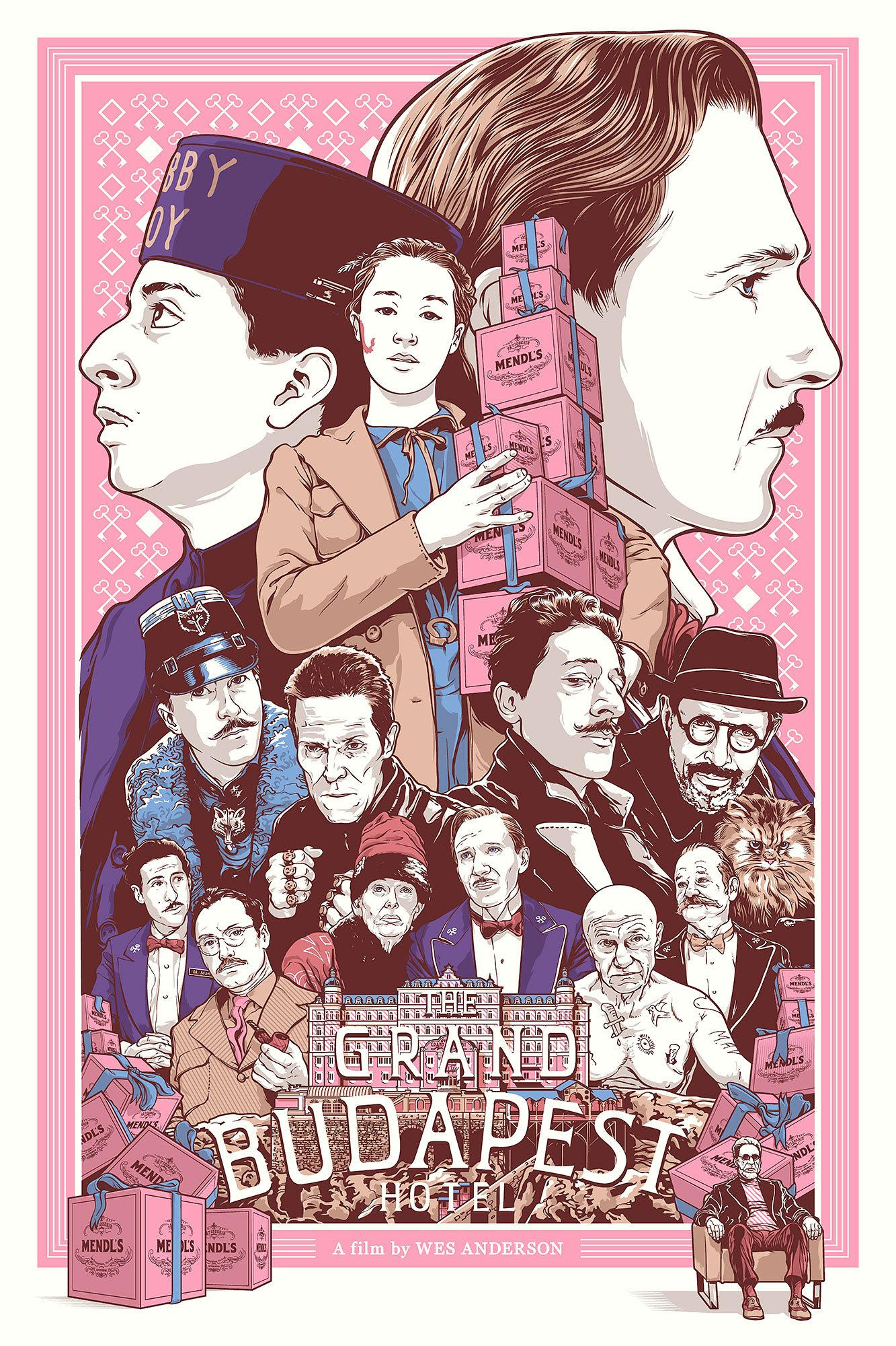wes anderson fan art illustration oldskull 3