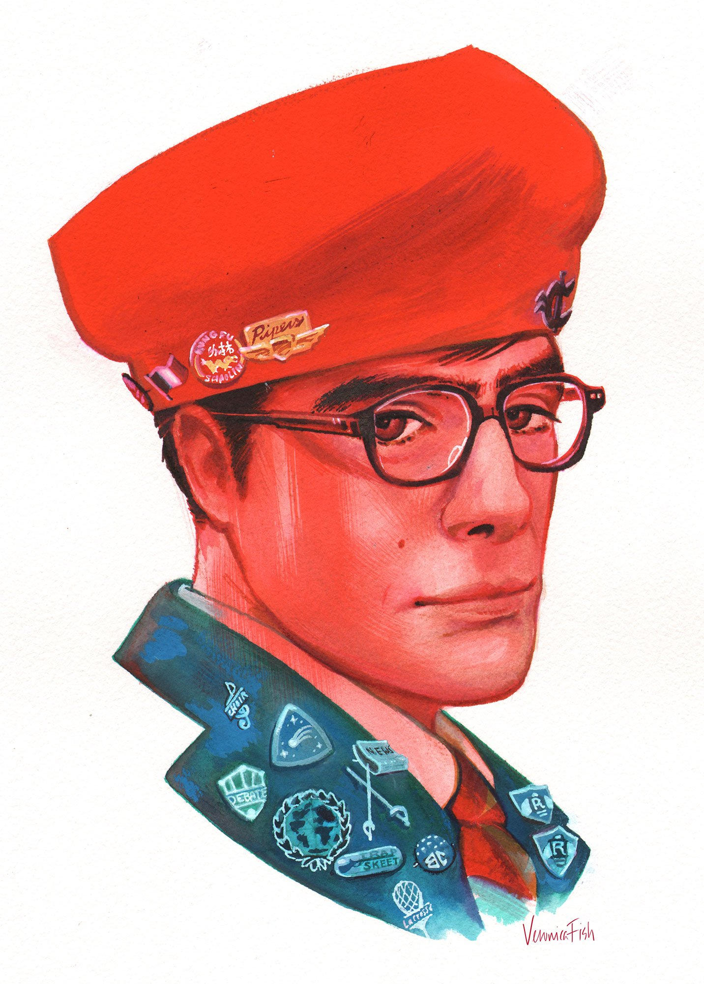 wes anderson fan art illustration oldskull 5