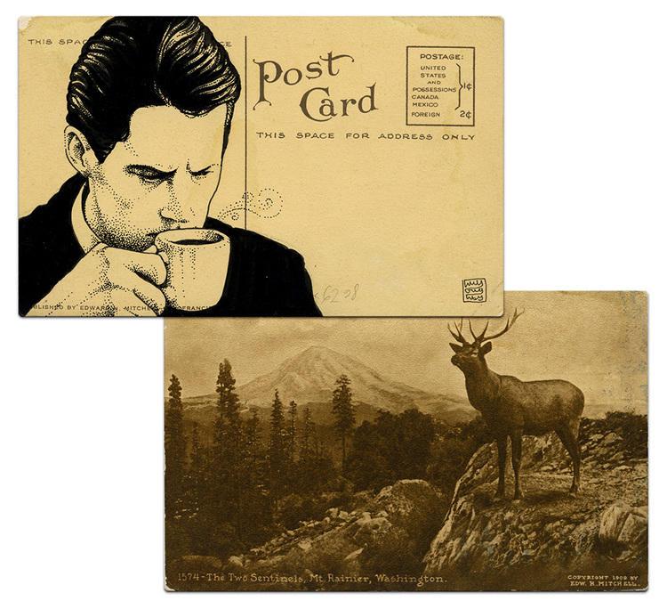 twin peaks post cards oldskull 0