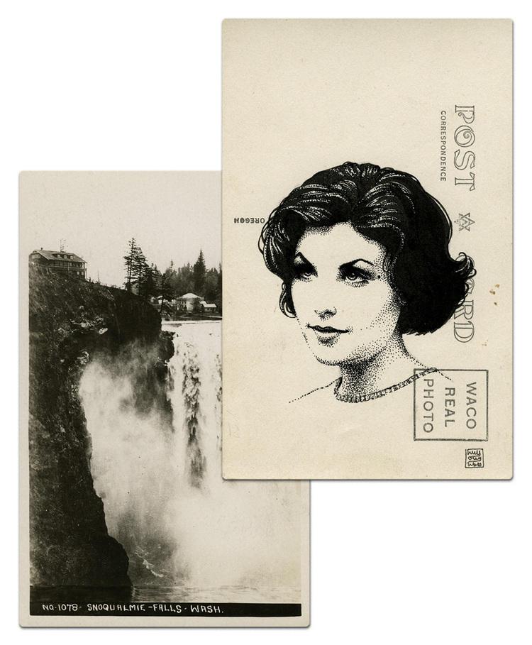 twin peaks post cards oldskull 2