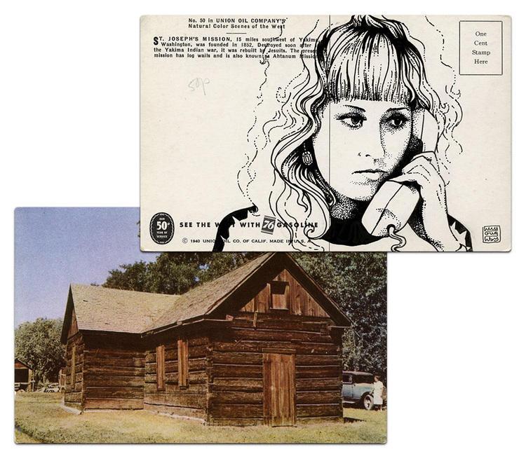 twin peaks post cards oldskull 5