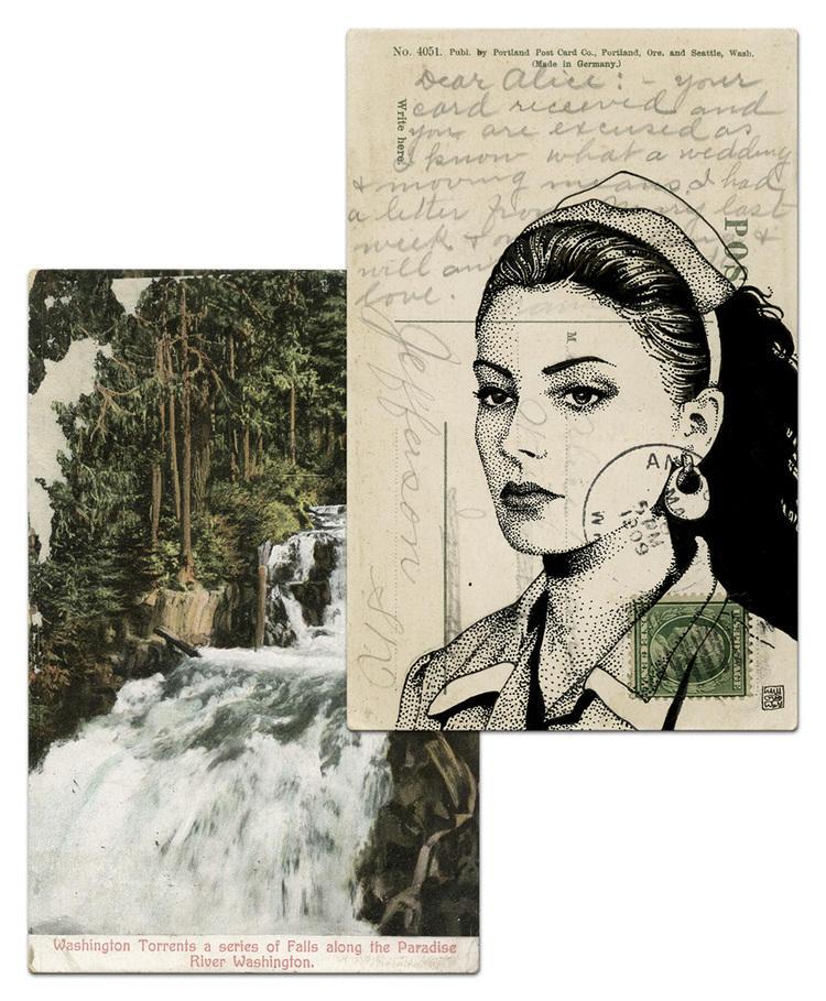 twin peaks post cards oldskull 7