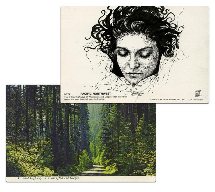 twin peaks post cards oldskull 8