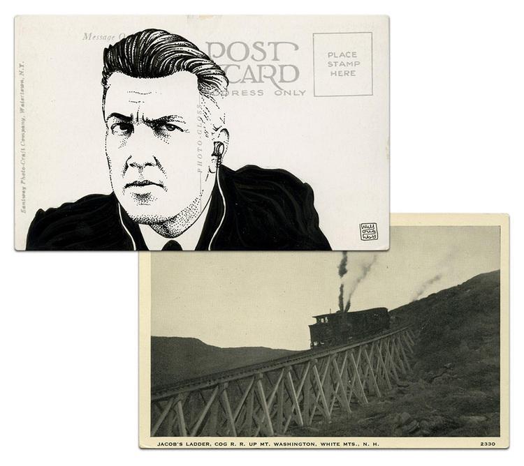 twin peaks post cards oldskull 9