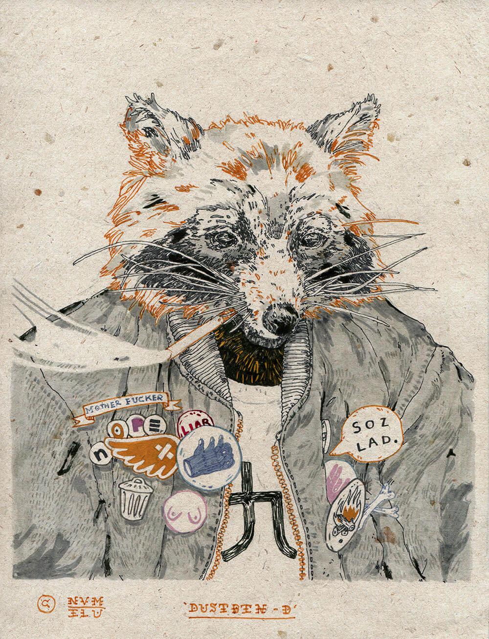 Michael Howard illustration oldskull 11