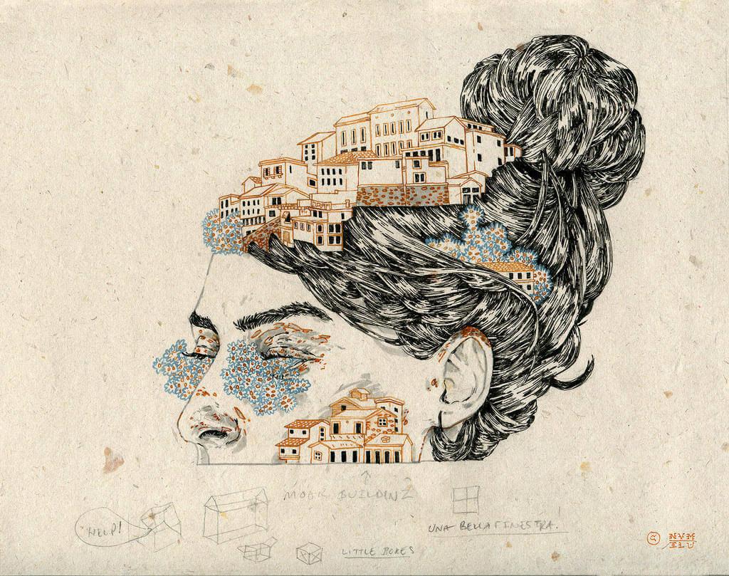 Michael Howard illustration oldskull 2