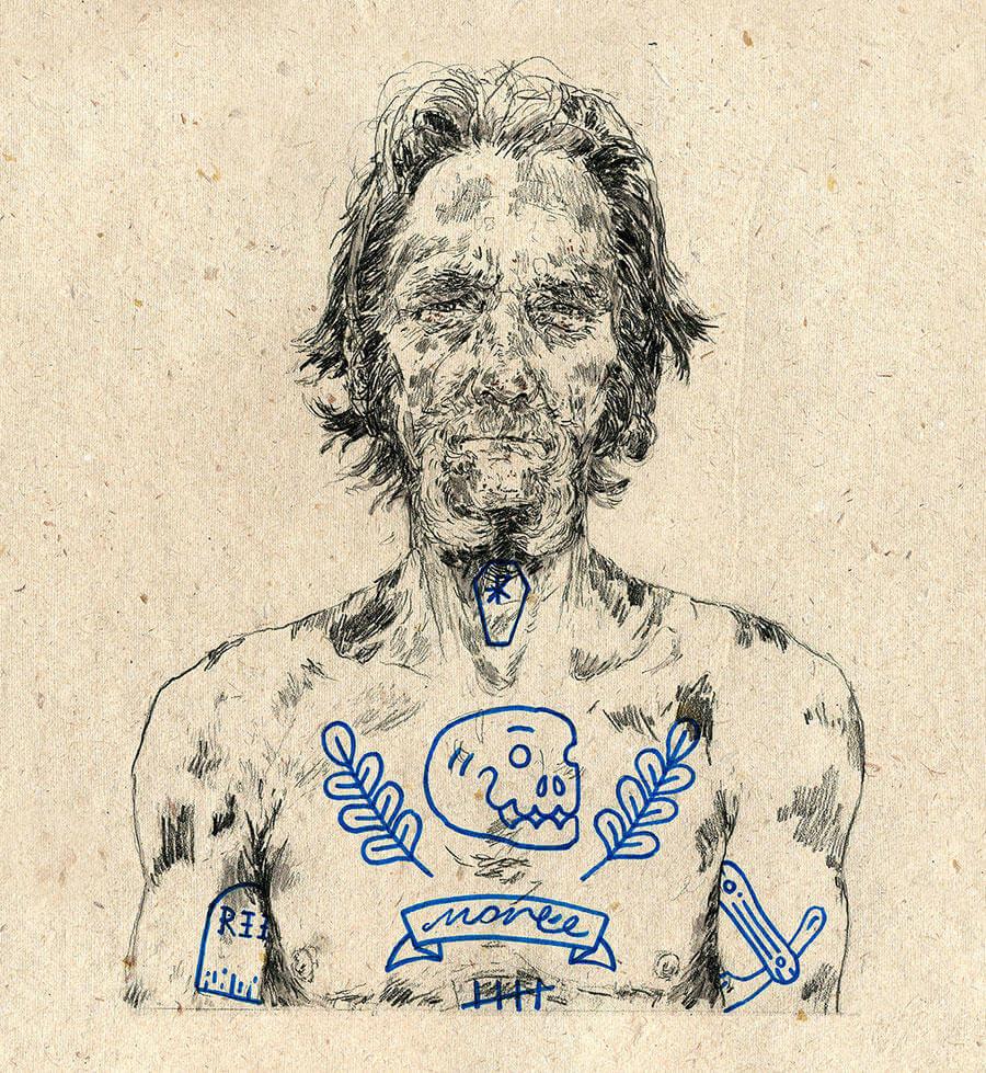 Michael Howard illustration oldskull 4