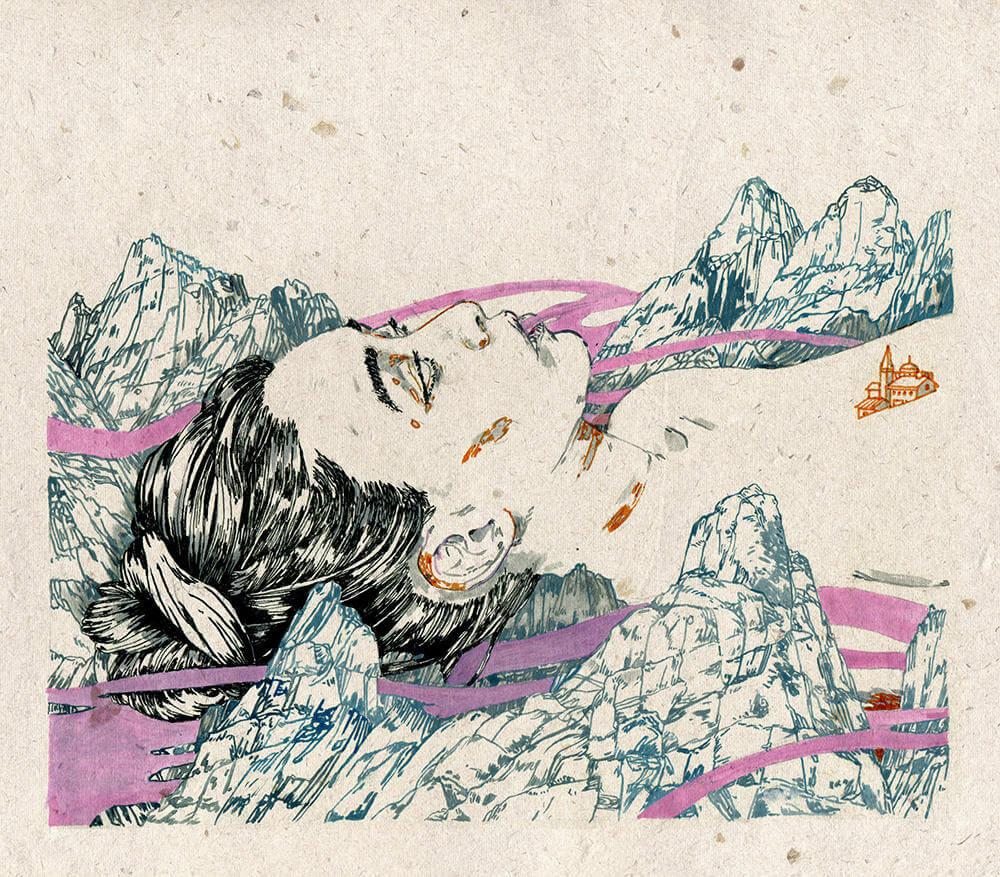 Michael Howard illustration oldskull 5