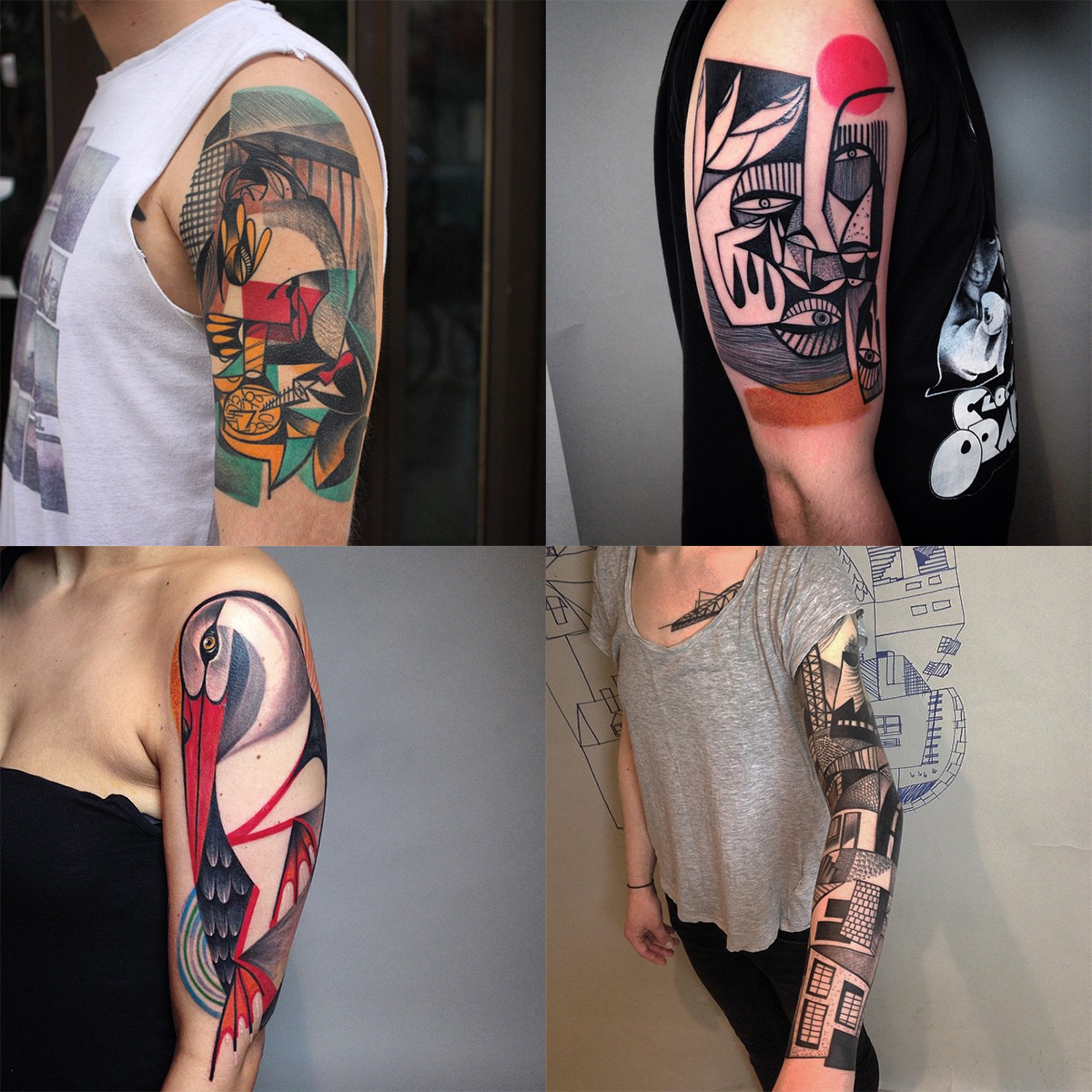 New Cubist Tattoos by Peter Aurisch(5)