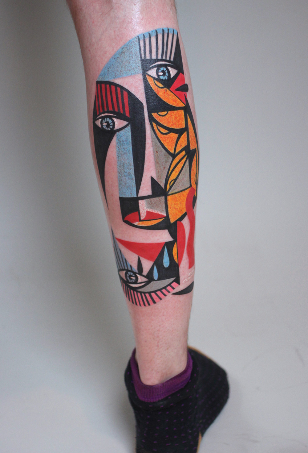 New Cubist Tattoos by Peter Aurisch(8)